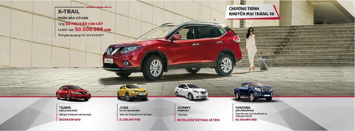 Bảng giá các dòng xe Nissan mới nhất và chương trình khuyến mãi tháng 10/2017