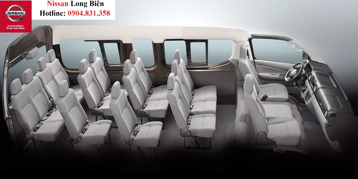 Những ưu điểm của Nissan NV350 Urvan dòng xe 16 chỗ của nissan nhập khẩu Nhật Bản